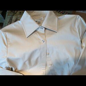 St John Sport long sleeve beige blouse